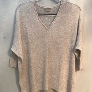 ZARA Italian yarn knit v neck sweater size M
